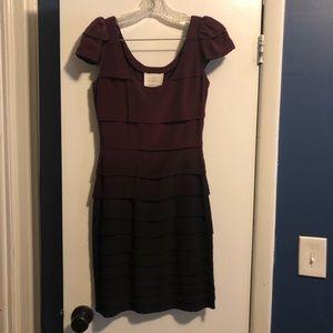 Madison Marcus XS burgundy ombré silk dress